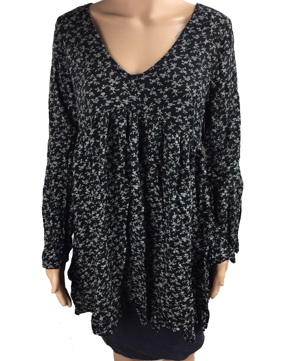 Denim & Supply Ralph Lauren Women's Floral-Print Bell-Sleeve Dress (Large, Hayden Floral)