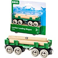 Brio 33696 Vehicle Lumber Loading Wagon, 4 Pieces, Red, Standard