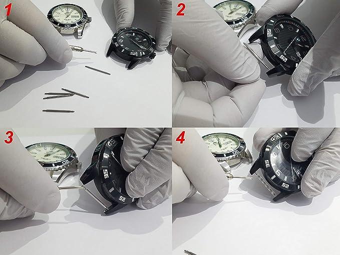 Acier Inoxydable Ressort tirants de montres de 16 mm à 24 mm en 1,8 mm d/'épaisseur