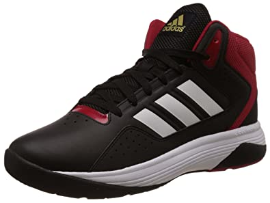 adidas neo Men's Cloudfoam Ilation Mid Black, White and Matte Gold  Basketball Shoes - 11