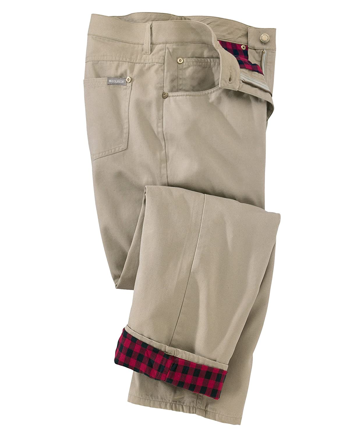 Woolrich Women's Classic-Fit Flannel-Lined Pants, KHAKI (Beige ...