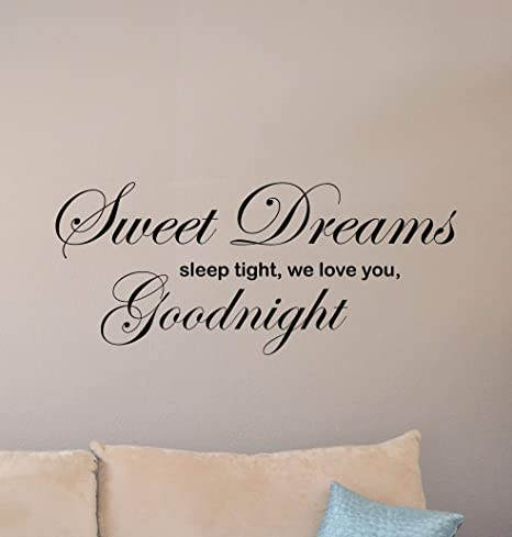 Sweet Dreams Bedroom Sleep Bed Wall Décor Sign Poster Print Free Postage