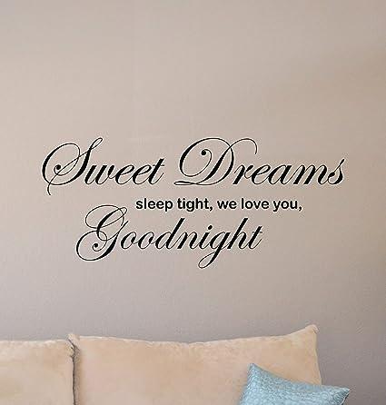 Amazon com: Sweet Dreams Sleep Tight We Love You Goodnight Sign Wall