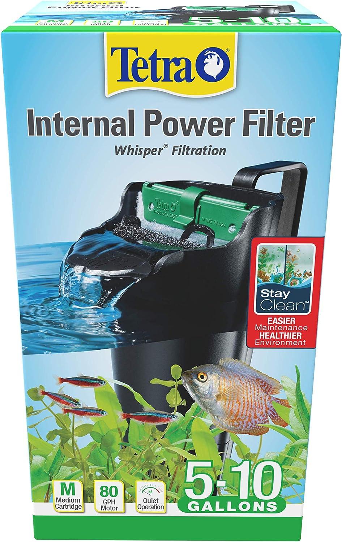 Amazon Com Tetra Whisper Internal Filter 3 To 10 Gallons For Aquariums In Tank Filtration With Air Pump Blacks Grays 25816 Aquarium Power Filters Pet Supplies