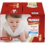 Huggies Little Snugglers Baby Diapers, Size 3, 162 Count, ECONOMY PLUS (Packaging May Vary)