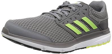 adidas Originals Mens Galaxy 3 m Running Shoe Grey Solar Yellow Dark Grey