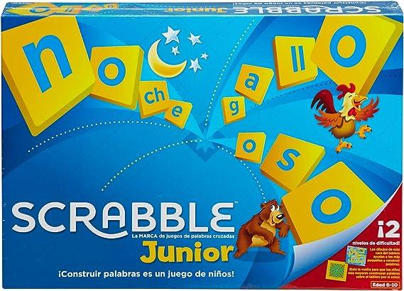 Mattel Games Scrabble junior, juegos de mesa para niños (Mattel Y9669): Amazon.es: Juguetes y juegos