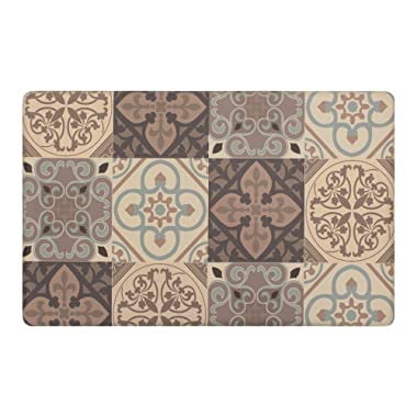 Chef Gear Tile Collage Kitchen Mat, 20 x 32, Gray
