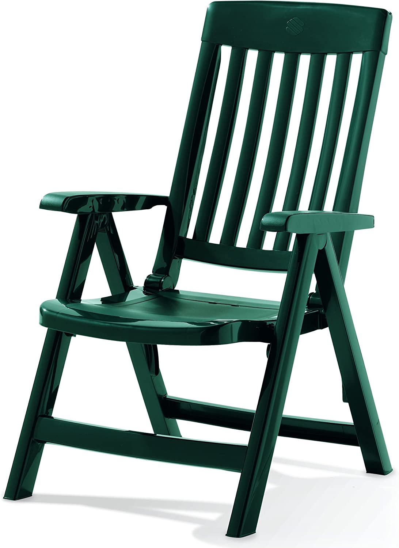 Sieger Palma - Sillón plegable de plástico, color verde