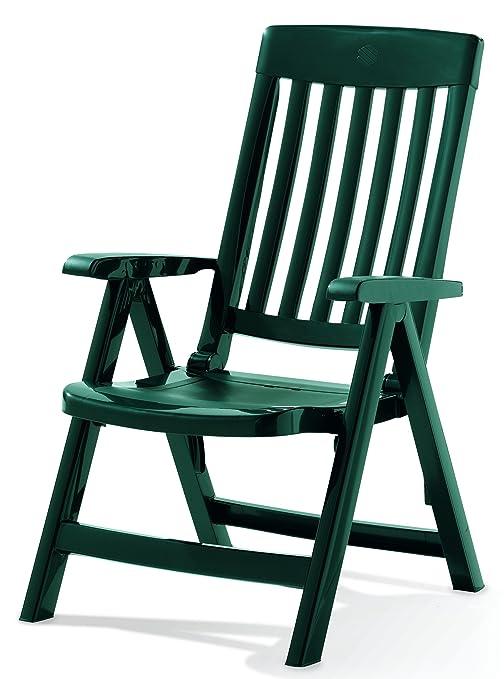 Sieger Palma - Sillón plegable de plástico, color verde ...