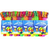 Water Balloons 4 Sets Total 444 pcs Self-tied Water Balloons Launcher Water Balloon Filler Toys for Camping Toys Kids by Mibote