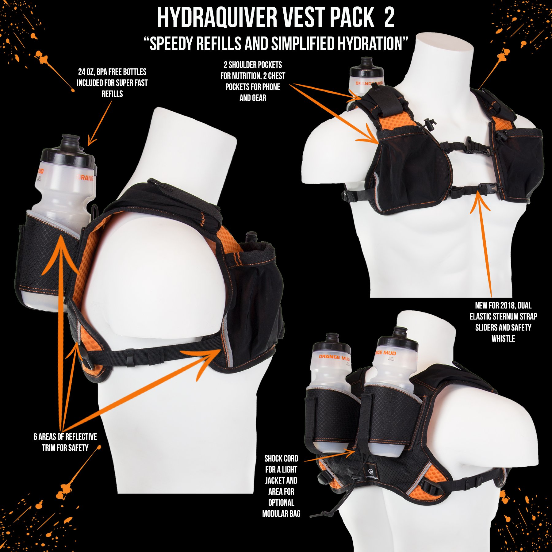 Orange Mud HydraQuiver VP2 2.0 (Black) by Orange Mud (Image #1)