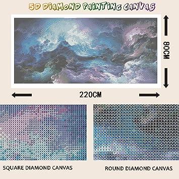 YSCOLOR Diamond Painting Nouveau Complet 5D DIY Diamant Peinture Belle Orchid/ée///Broderie Point De Croix Strass 2019 Peinture D/écor 2019 30X30Cm