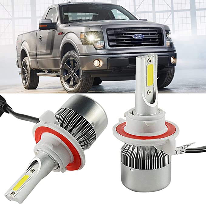 Amazon.com: H13 LED Headlight Bulbs Kit for Ford F150 2004-2014 High Low Beam Lighting: Automotive