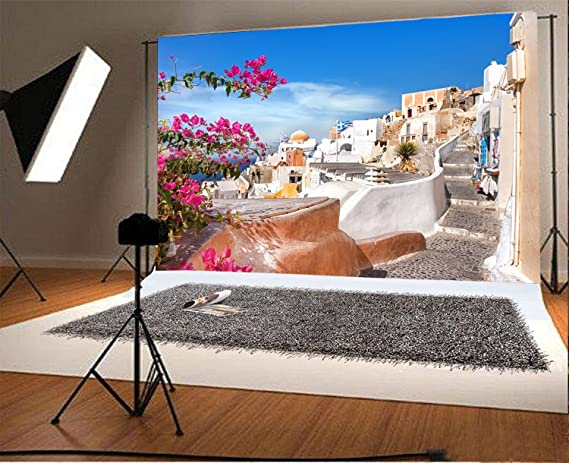 7x10 FT European Vinyl Photography Backdrop,Scenic View Old Town Tallinn Estonia Ancient European Cathedral Architecture Print Background for Baby Shower Bridal Wedding Studio Photography Pictures