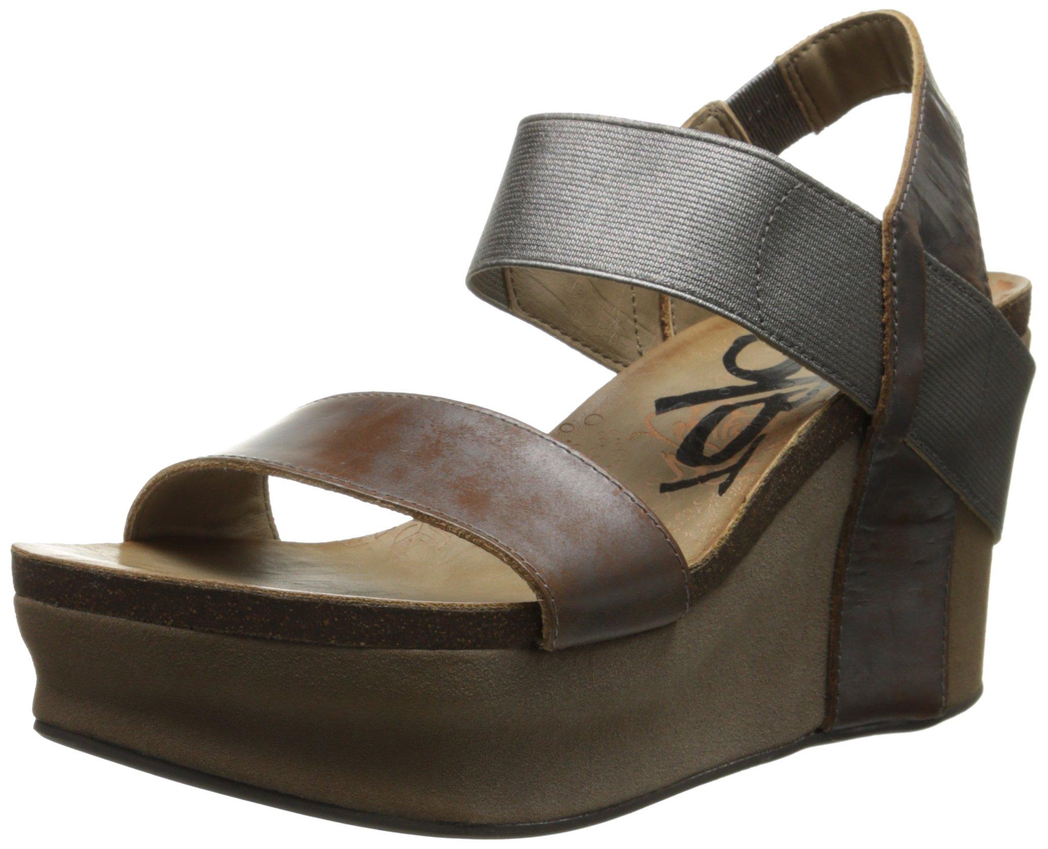OTBT Women's Bushnell Wedge Sandal, Pewter, 7 M US