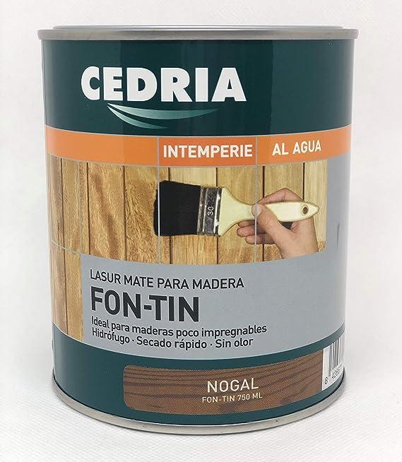 Protector lasur Fontin Cedria color nogal - protege y embellece la madera tanto de interior como de exterior. - 4 litros -