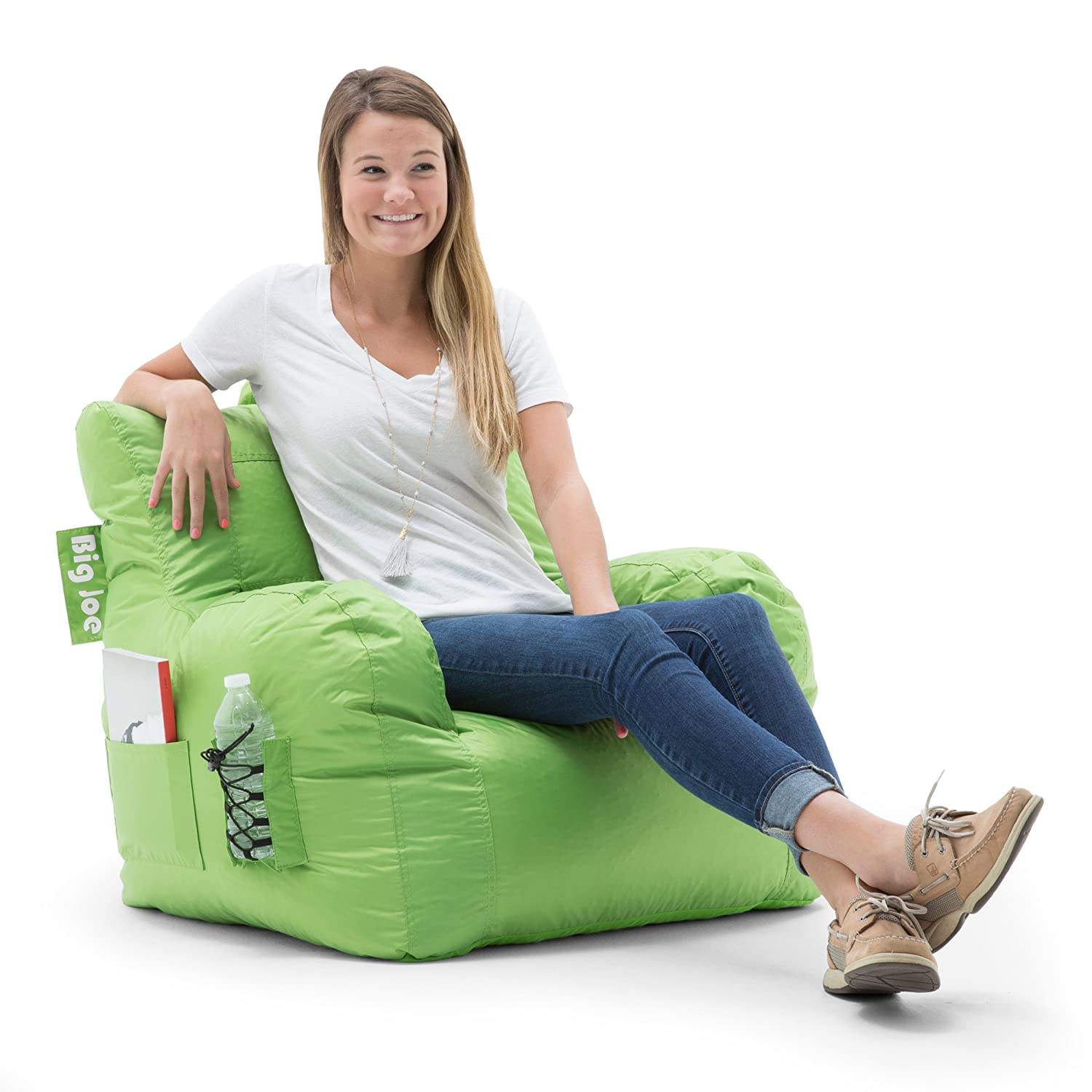 Spicy Lime Big Joe Dorm Bean Bag Chair, Flaming Red