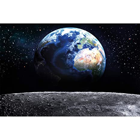 Amazon com: Great Art XXL Poster – View Earth from Moon