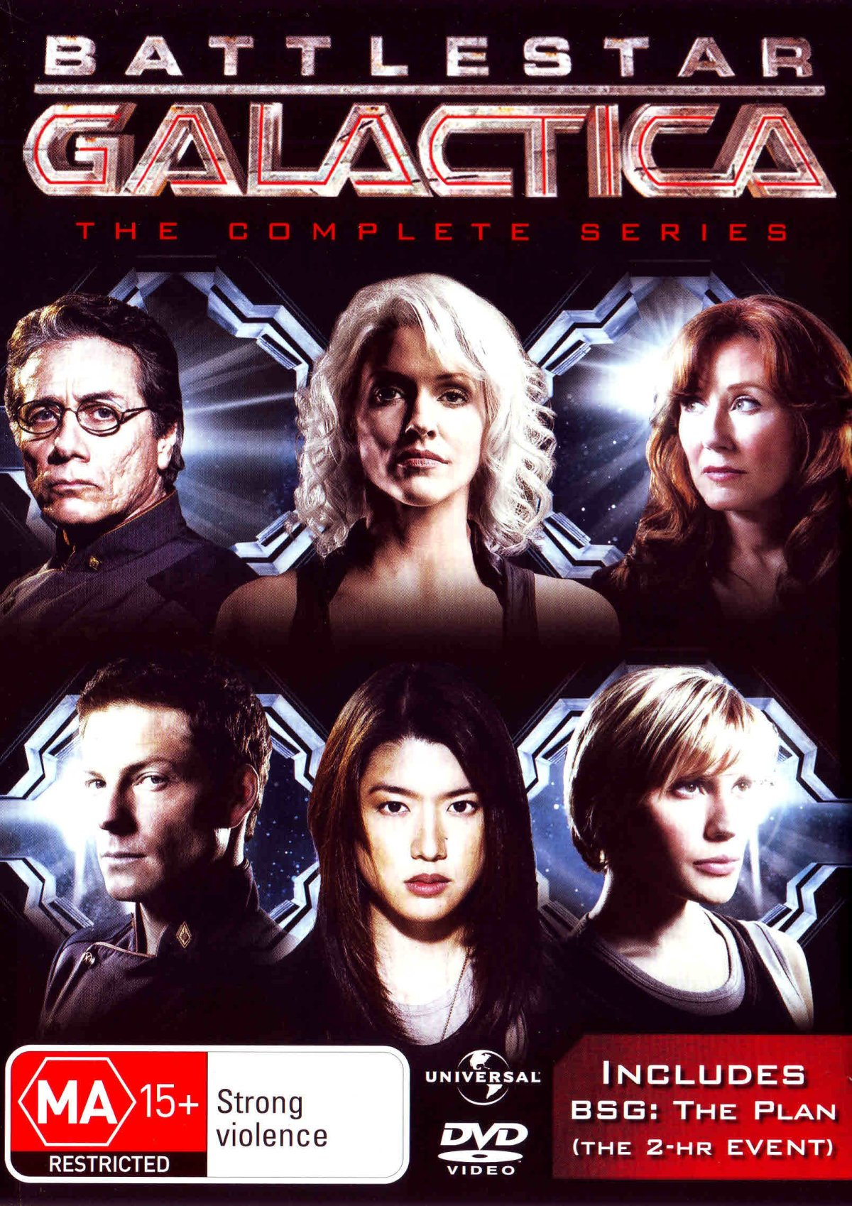 Battlestar Galactica Complete TV Series + The Plan | 26 Discs | NON-USA Format | PAL | Region 4 Import - Australia by Unbranded