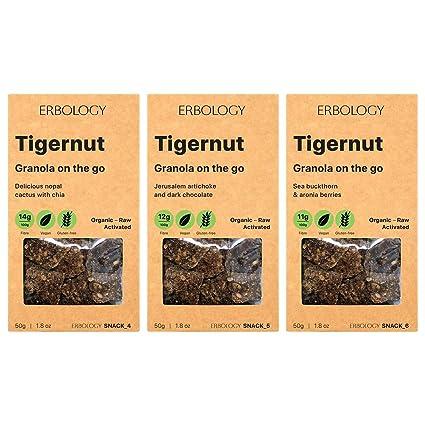 Erbology Organic Tigernut Granola (3 x 1.8 oz Pack) Sabores ...