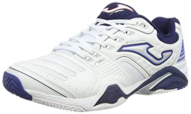 Joma Set Zapatillas de Tenis, Hombre, White/Blue, 44: Amazon.es ...