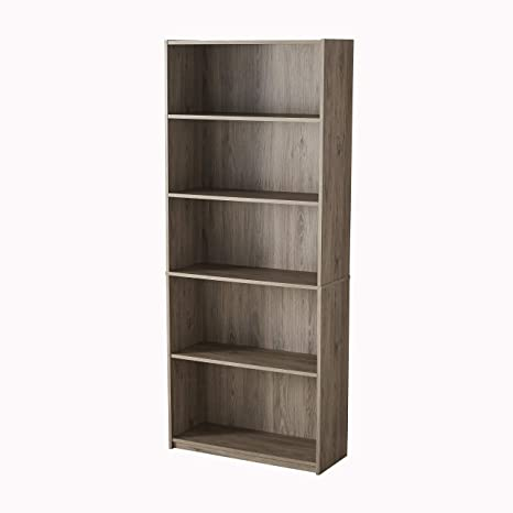 Mainstays 5 Shelf Bookcase Multiple Colors Oak