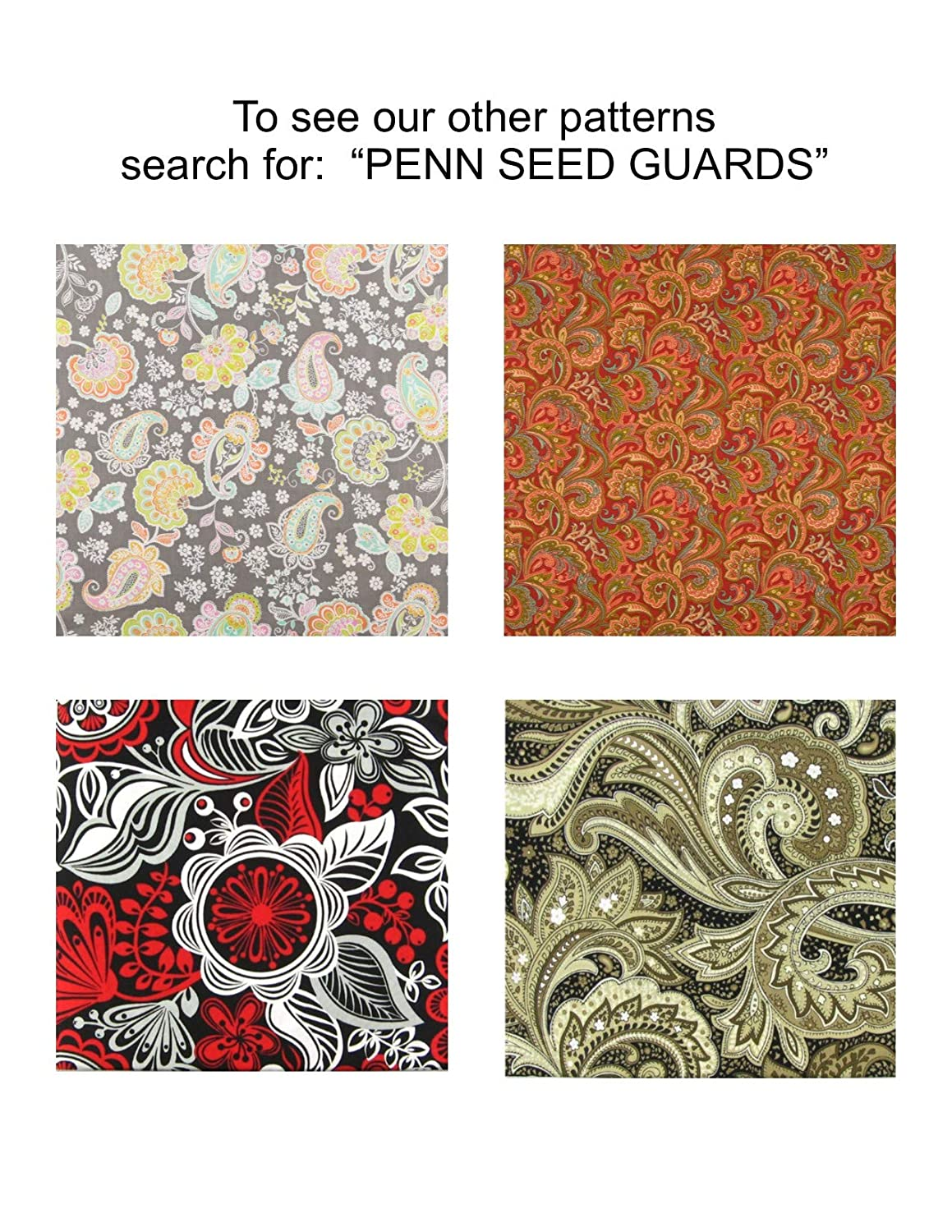 Penn Seed Seed Guard and Catcher Bird Cage Skirt Red and Dark Blue Paisley