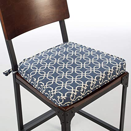 Amazoncom Set Of 2 Dark Blue Modern Geometric Print Dining Chair