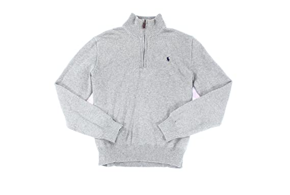 d65e97189f64 Polo Ralph Lauren Men s Mock Half-Zip Ribbed Sweater Jumper Pullover ...
