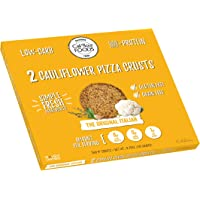 Cali'flour Foods Original Italian Cauliflower Pizza Crusts - KETO, Gluten Free, Low Carb - 1 Box (2 Total Crusts Per Box)