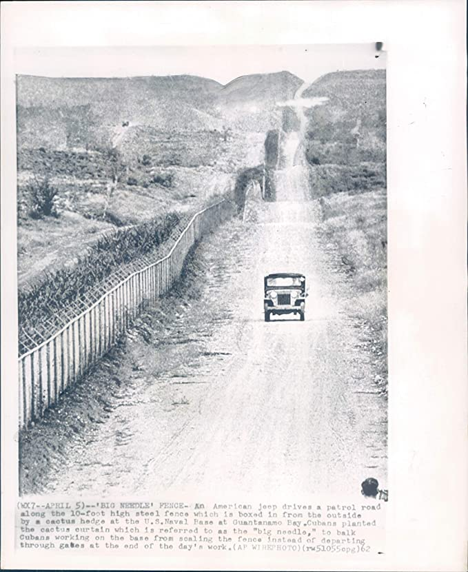 Amazon.com: 1962 Wire Photo Big Needle Fence Jeep Patrol Road Steel Guantanamo Bay 8X10: Photographs
