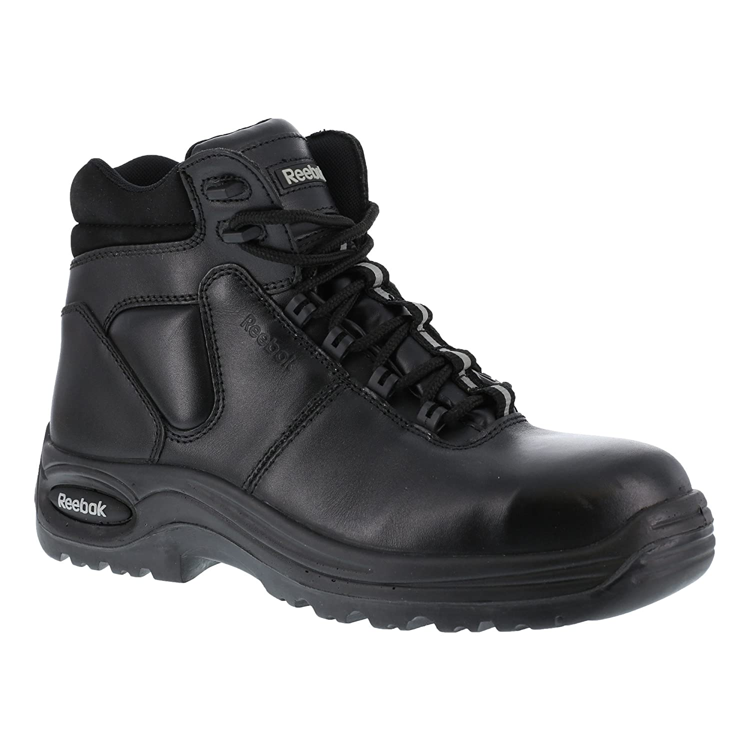 2d37c9a0c9184 Amazon.com: Reebok Mens Black Leather 6in Athletic Sport Boots ...