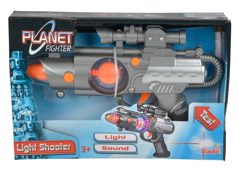 /Planet Fighter Light Shooter Pistolet Simba Toys 108046571/ Assortiment de 3/Motifs