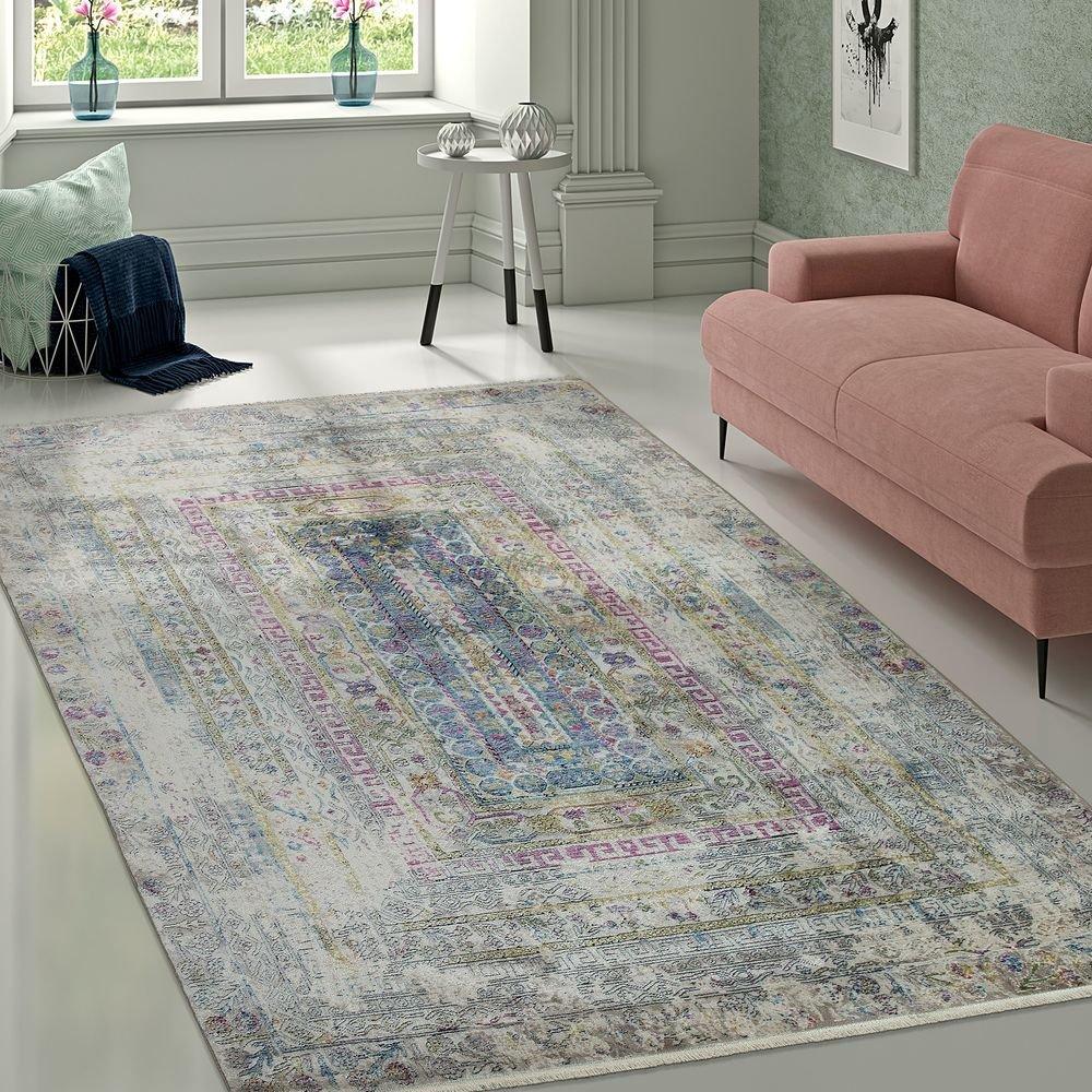Paco Home Designer Vintage Teppich Aztekenmuster Eyecatcher Ornamente Bunt Mehrfarbig, Grösse:133x190 cm