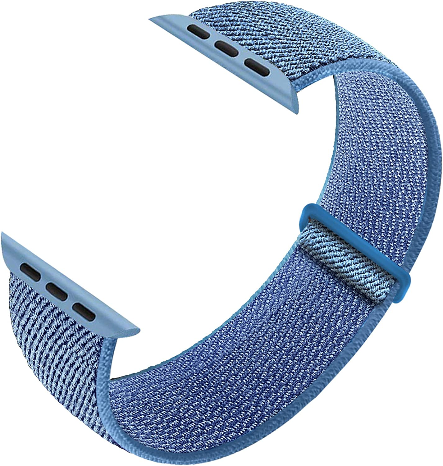 Ruiboo Sport Loop Band Compatible with Apple Watch Band 38mm 40mm 42mm 44mm iWatch Series 6 5 SE 4 3 2 1 Strap,Nylon Velcro Weave Women Men Replacement Wristband Stretchy Elastic Breathable Soft Light