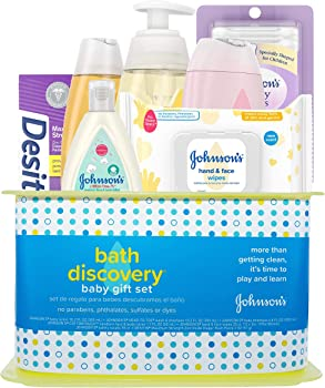 Johnson's Bath Discovery Baby Bath Time Essentials Gift Set