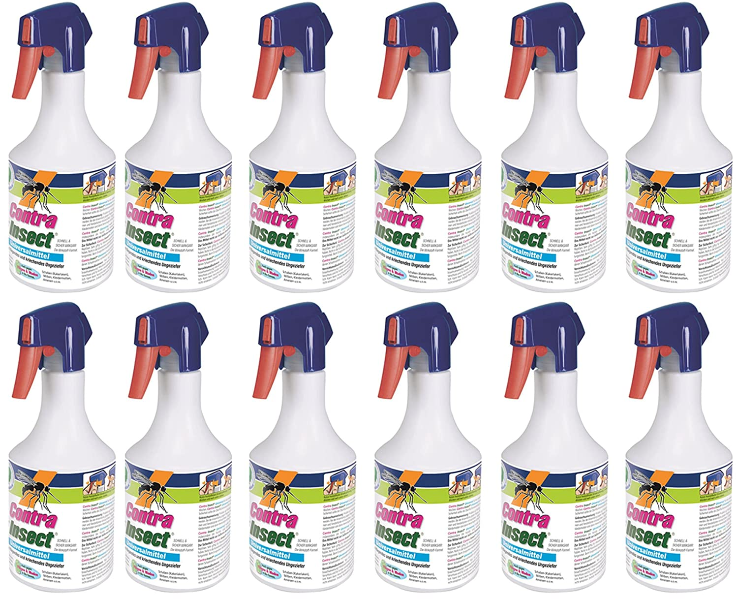 12 x 500 ml Contra Insect Universal Insektenmittel