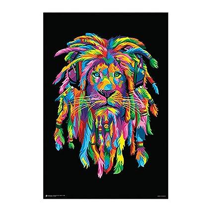 lion rasta poster 24x36 psa010910
