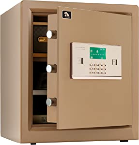 Digital Security Safe Box,Double Safety Key Lock and Password,Special own Interior Iocking Box Safe for Home Office 1.5 Cubic Feet by TIGERKING