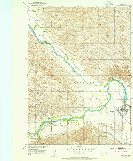 Burwell Nebraska Map.Amazon Com Yellowmaps Burwell Ne Topo Map 1 24000 Scale 7 5 X 7 5