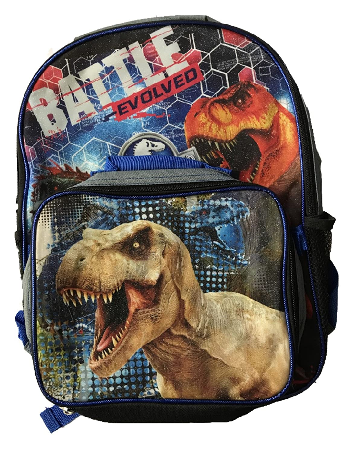 Jurassic World Large School Backpack with Insulated Lunch Bag - Kids   B074ML5YH4