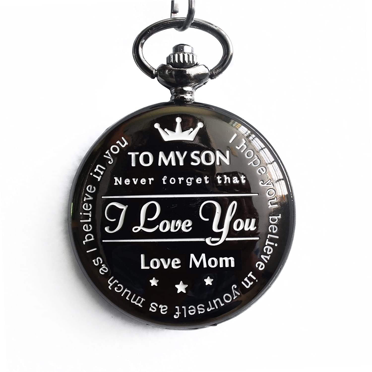 "Amazon New Version Pocket Watch ""To My Son Love Mom "" From"