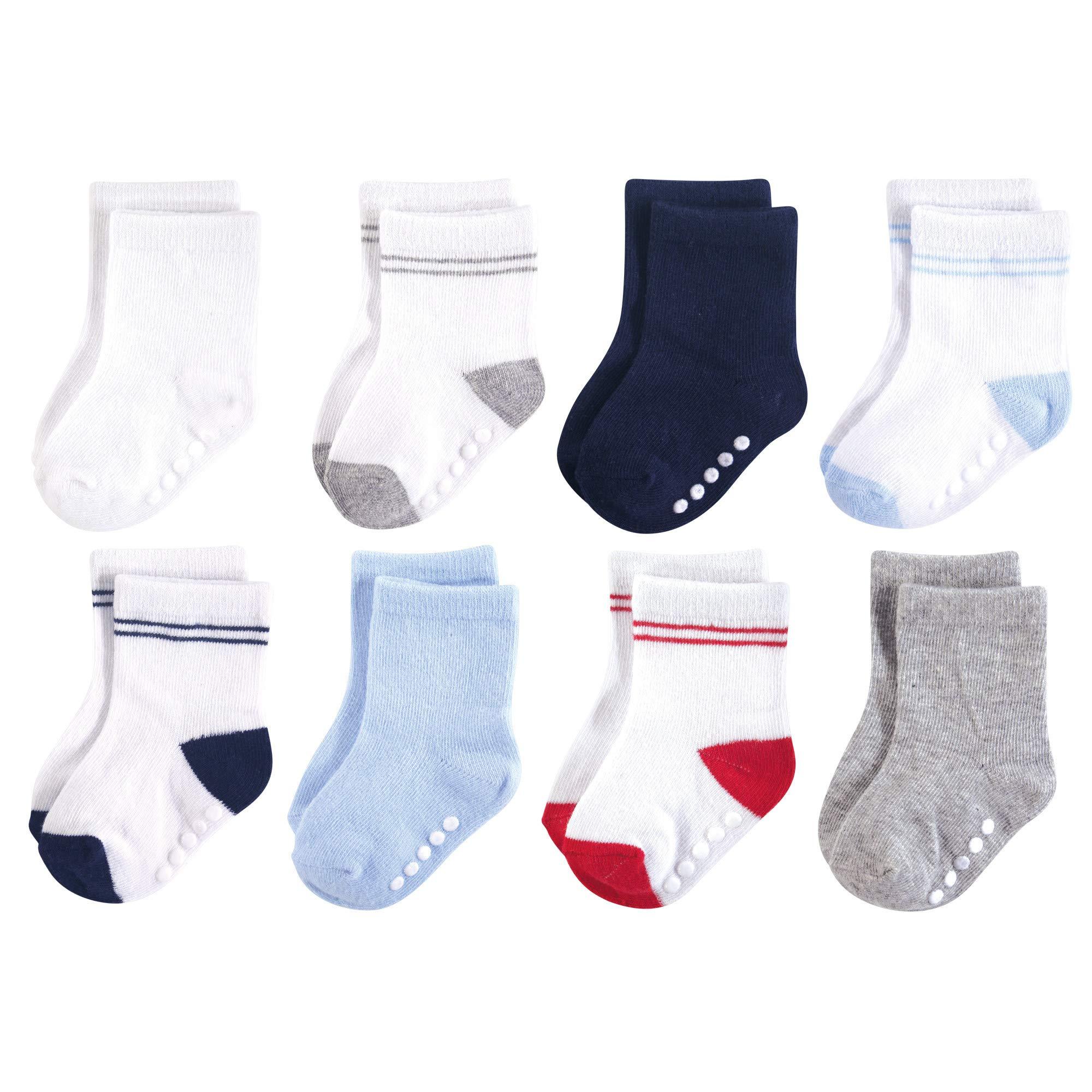 Luvable Friends Baby Basic Socks, Athletic Blue