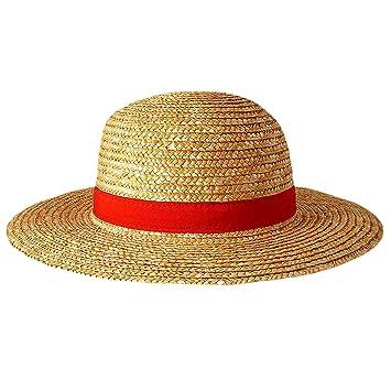 One-piece 599386031 - Sombrero de Paja Luffy Adulto.  Amazon.es ... 3f8bf40ed7b