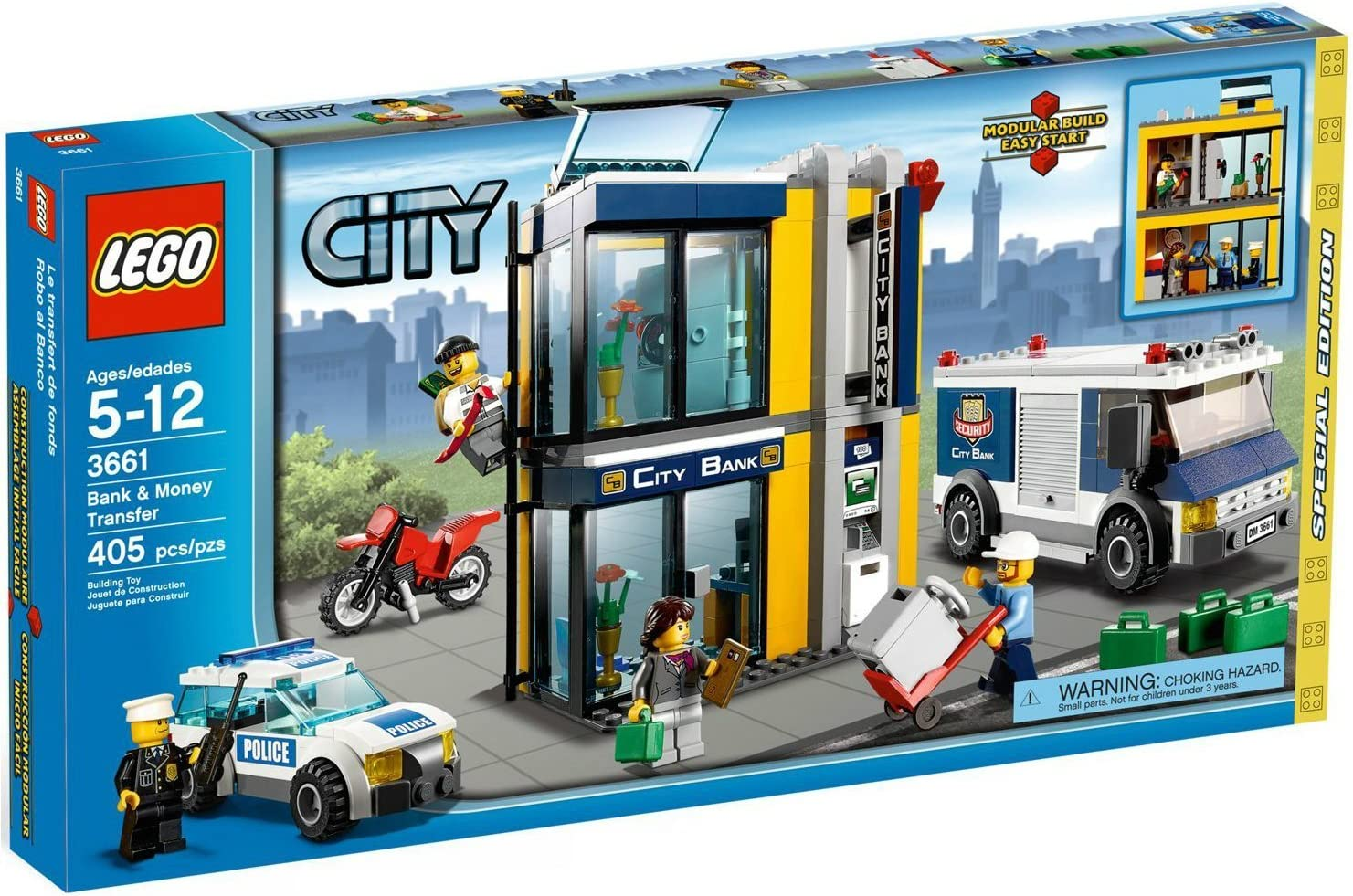 Amazon Com Lego City Police Bank Money Transfer 3661 Toys Games