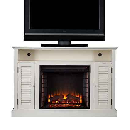 fireplaces fireplace bay white electric with console hampton media