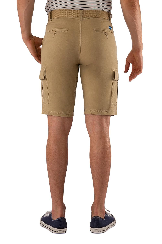 14d44d1f7c 1688 Revolution Men's Twill Cotton Multi Pocket Cargo Shorts with Belt