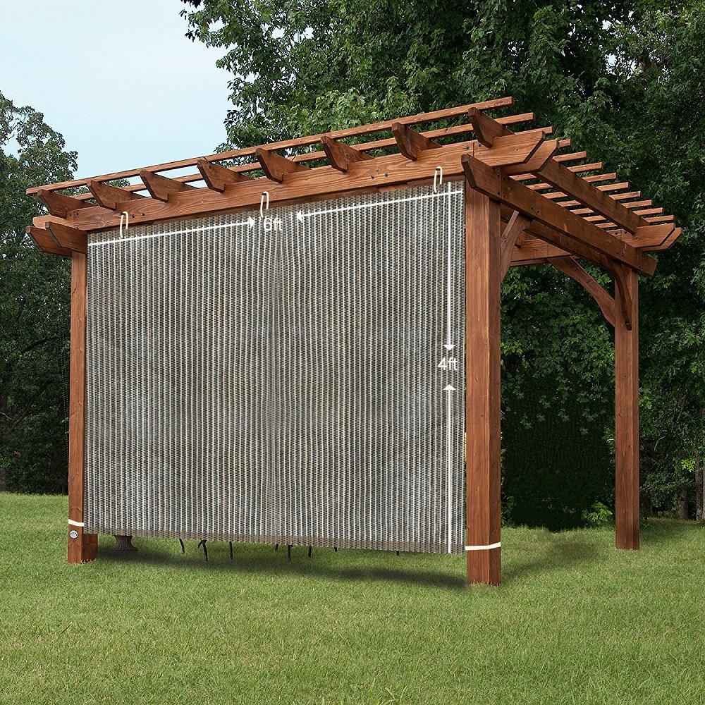 Amazon.com: Easy2Hang EZ2hang Outdoor Shade Cloth Vertical Side Wall Panel  for Patio/Pergola/Window 6x8ft Coffee: Home & Kitchen - Amazon.com: Easy2Hang EZ2hang Outdoor Shade Cloth Vertical Side Wall