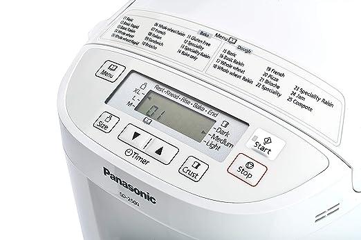 Panasonic SD-2500WXE Panificadora, 550 W, Color Blanco [Versión Importada]